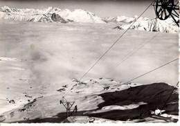 73 Savoie La Toussuire Vue Sur La Mer De Nuage Grande Verdette Teleski 1963 Massot Bleury Nature Paysage Montagne - Otros Municipios