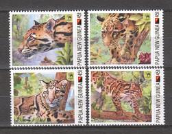 Papua New Guinea - MNH Set CLOUDED LEOPARD - Felinos
