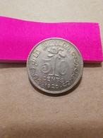 Ceylon 50 Cents 1920 KM109a - Sri Lanka