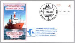 Buque HESPERIDES - Expedicion 2021 SUSPENDIDA POR COVID-19 - Expedition 2021 Suspended By Covid19. Hesperides 2021 - Enfermedades