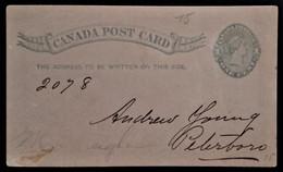 926 CANADA TORONTO 1890 PRIVA PRIVATE POSTAL STATIONERY POST CARD - 1860-1899 Victoria