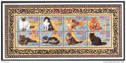 Nevis 1994. Mi.#812/19+Bl.#78/79 MNH/Luxe. Animals. Persian Cats. (B49) - Antillen