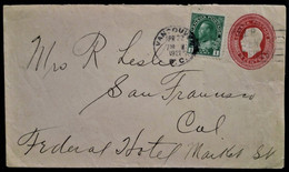 927 CANADA VANCOUVER 1921 PRIVAT PRIVATE COVER POSTAL STATIONERY POST - 1903-1954 Könige