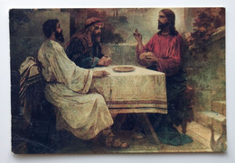 The Refectory Chamber. Jesus Christ In Emmaus, Popov, Pocket Calendar, Ukraine, USSR, 1991 - Small : 1991-00