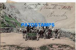 157769 CHILE CORDILLERA POSADA COSTUMES CART A HORSE  POSTAL POSTCARD - Chile