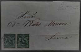 931 PERU PASCO PUEBLO NUEVO 1867 TO LIMA COVER - Peru