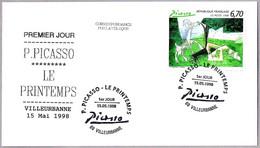 PICASSO - LE PRINTEMPS. FDC Villeurbanne 1998 - Picasso