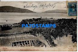 157770 CHILE CORRAL FUERTE VISTA PARCIAL SPOTTED POSTAL POSTCARD - Chile
