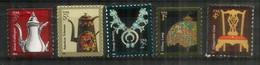 USA.Cafetières En Email Et Argent,Chaise Chippendale,Collier Amérindien Navajo,Lampe Tiffany. 5 Timbres Neufs ** - Andere