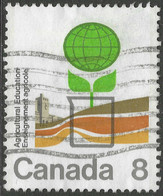 """Canada. 1974 Centenary Of """"Agricultural Education"""". Ontario Agricultural College. 8c Used. SG 782 - Gebraucht"""