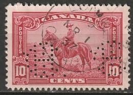 "Canada 1935 Sc 223  Used ""IHC"" (Intl Harvesters London) Perfin - Perforiert/Gezähnt"