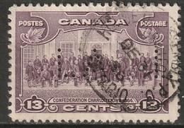 "Canada 1935 Sc 224  Used ""LA"" (Ontario Govt) Perfin - Perforiert/Gezähnt"