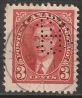 "Canada 1937 Sc 233  Used ""IHC"" (Intl Harvesters London) Perfin - Perforiert/Gezähnt"