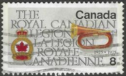 Canada. 1975 50th Anniv Of Royal Canadian Legion. 8c Used. SG 828 - Gebraucht