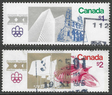 Canada. 1976 Olympic Games, Montreal (11th Issue). Used Complete Set. SG 836-837 - Gebraucht
