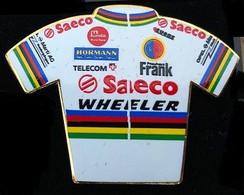 CYCLISME - VELO - BIKE - CYCLISTE - MAILLOT EQUIPE SAECO - WHEELER - CHAMPION DU MONDE - TEAM - TELECOM - EGF- (18) - Cycling