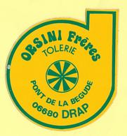 AUTOCOLLANT - ORSINI FRÈRES - TOLERIE - PONT DE LA BEGUDE 06680 DRAP - AUTOMOBILE - GARAGE - VOITURE - Stickers