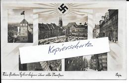 Propagandakarte, Propaganda, Aufgehende Sonne, HK-Sonne, Nürnberg, Bayern, Reichsparteitag, Hitler, Drittes Reich, RPT - Guerra 1939-45
