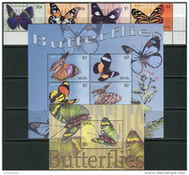Nevis 2003. Mi.#1913/20+Bl.#233 MNH/Luxe. Fauna. Insects. Butterflies (Ts20) - America (Other)