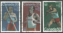 Canada. 1975 Olympic Games, Montreal (1976 - 7th Issue). Used Complete Set. SG 809-811 - Gebraucht