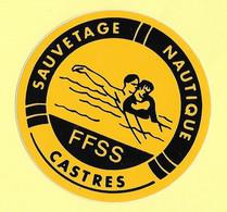 AUTOCOLLANT STICKER - FFSS - FÉDÉRATION FRANÇAISE DE SAUVETAGE ET DE SECOURISME - SAUVETAGE NAUTIQUE - CASTRES - Stickers