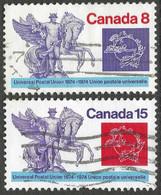 Canada. 1974 Centenary Of UPU. Used Complete Set. SG 790-791 - Gebraucht