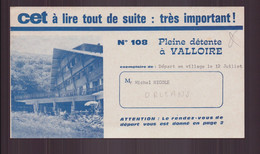 """Dépliant CET """" Pleine Détente à Valloire """" , 1963 - Tourism Brochures"""