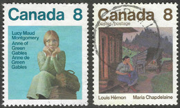 Canada. 1975 Canadian Writers (1st Series). Used Complete Set. SG 803-804 - Gebraucht
