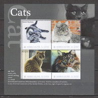 Sierra Leone - MNH Sheet CATS - Gatos Domésticos