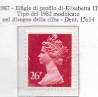 PIA - GRAN BRETAGNA - 1983 : Serie Corrente - Effigie  Della Regina  Elisabetta II  -  (Yv  1278) - Ungebraucht