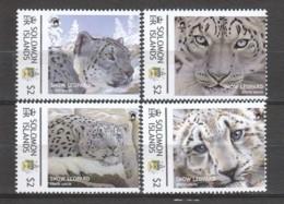 Solomon Islands - MNH Set SNOW LEOPARD - Felinos