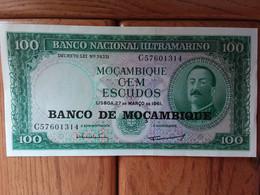 Cem Escudos De La Banco De Mocambique - Mozambique