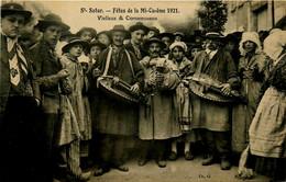 St Satur * Les Fêtes De La Mi Carême 1921 * Vielleux Et Cornemuseux * Instrument Musique Vielle Cornemuse - Saint-Satur