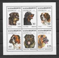 Georgien 1997 Hunde/Dogs Mi.Nr. 234-39 Kleinbogen ** - Georgia