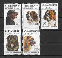 Georgien 1997 Hunde/Dogs Mi.Nr. 234-39 Teilsatz ** - Georgia