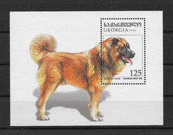 Georgien 1996 Hunde/Dogs Block 10 ** - Georgia