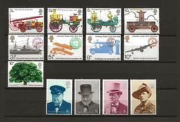Groot Brittannië, 1974, Postal Union, Winston Churchill, Fire Prevention, Transport, MH !! - Ungebraucht