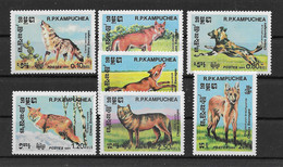 Kampuchea 1984 Hunde/Dogs Mi.Nr. 577/83 Kpl. Satz ** - Kampuchea