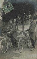 27 - BERNAY - Soldats Armés, Avec Leurs Bicyclettes - Walter, Photographe - Bernay