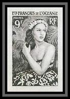 90938b Océanie N° 203 Jeune Fille De Bora Bora Essai Proof Non Dentelé Imperf ** MNH Tahiti Polynesie - Neufs