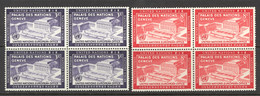 United Nations Sc# 27-28 MNH Block/4 1954 UN Day - Nuovi