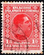 SLOVENIA, CROAZIA, SERBIA, RE ALESSANDRO, 1926, 1 D., FRANCOBOLLO USATO Mi:YU 190, Scott YU 43, Yt:YU 172 - Slovenia