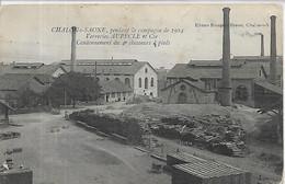 71, Saône Et Loire, CHALONS-sur-SAONE,Pendant La Campagne De 1914,Verreries Aupècle Et Cie, Cantonnemen Scan Recto-Verso - Chalon Sur Saone