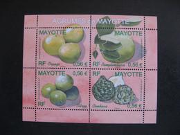 Mayotte: TB Feuille N° 224 Au N° 227, Neuve XX . - Ongebruikt