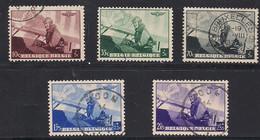 Belgie Belgique 1938 Yvertn° 466-470 (°) Oblitéré Cote 9 € Avions Vliegtuigen Airplanes - Used Stamps