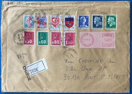 France Divers Tous Issu De Roulette (sauf St-Lo) Sur Enveloppe Chargé 8.9.1979 - (L152) - 1961-....