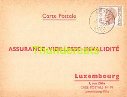 ASSURANCE VIEILLESSE INVALIDITE LUXEMBOURG 1973 GOUVY BEHO SCHENK - Briefe U. Dokumente