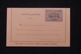 OBOCK - Entier Postal ( Carte Lette ) Type Guerriers, Non Circulé - L 95346 - Lettres & Documents