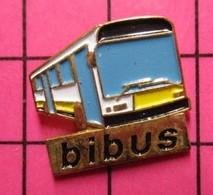 SP03 Pin's Pins / Beau Et Rare / THEME : TRANSPORTS / AUTOBUS URBAIN JAUNE ET BLANC BIBUS - Transportation