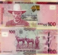 NAMIBIA       100 Dollars       P-14       2012       UNC - Namibia